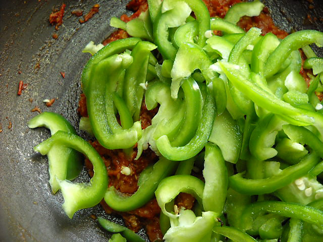 Chopped Capsicum